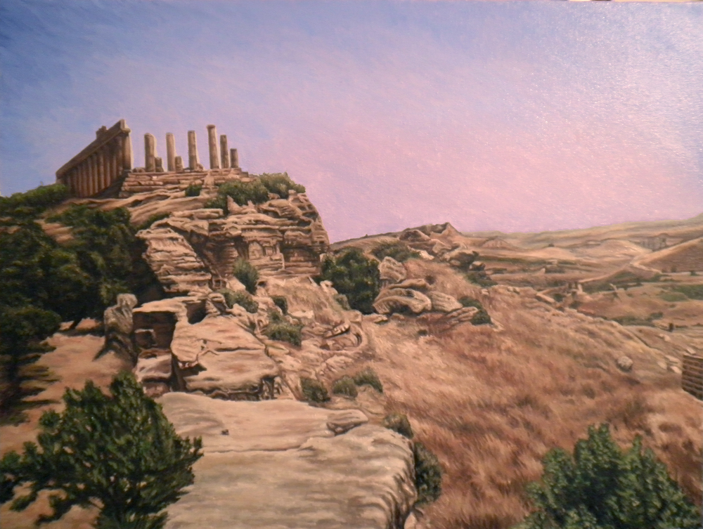 Ruins of  Akragas in Sicily. The modern city of Agrigento by Lamont W. Harvey, Wes Harvey
