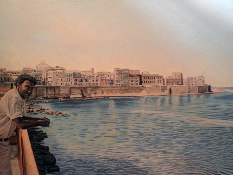 The Great Harbor at Sircusa (Syracuse) Sicily by Lamont W. Harvey, Wes Harvey