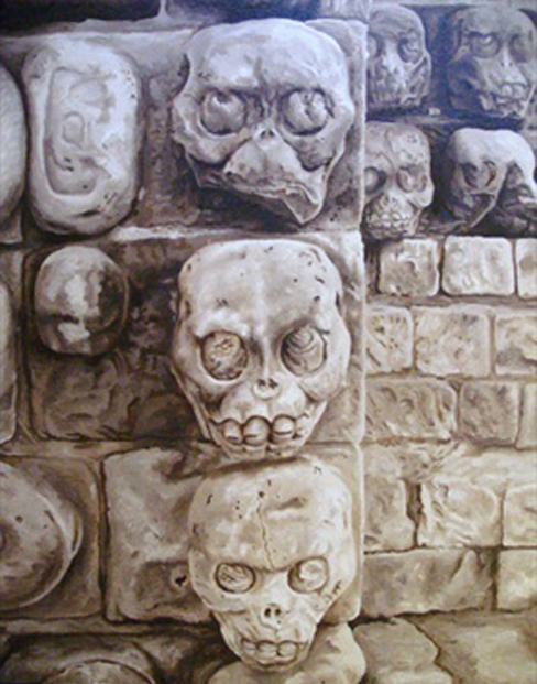 The temple of the underworld, called Xiabalba, in Copan, Honduras